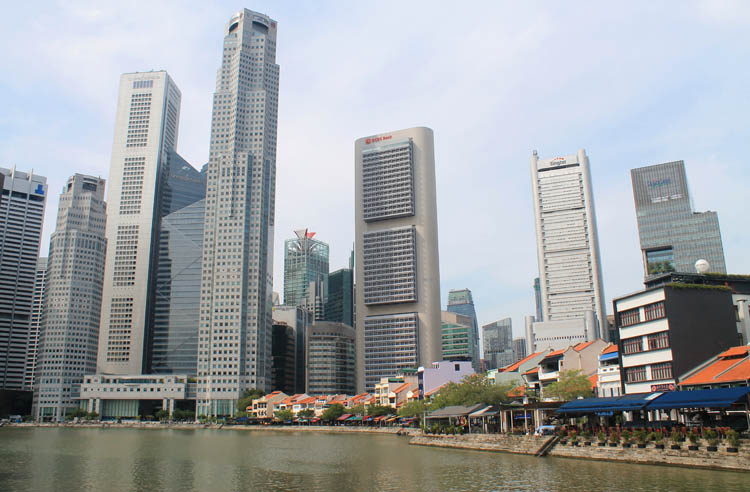 Downtown Singapore -- Boat Quay