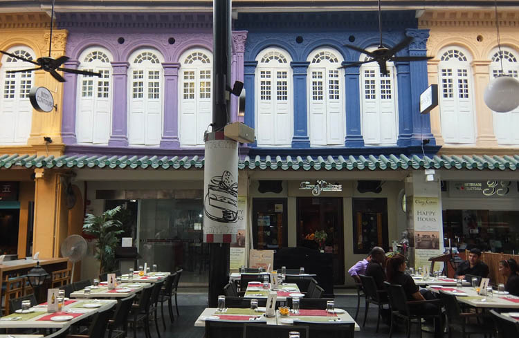 Shophouses on Cuppage Terrace, Singapore