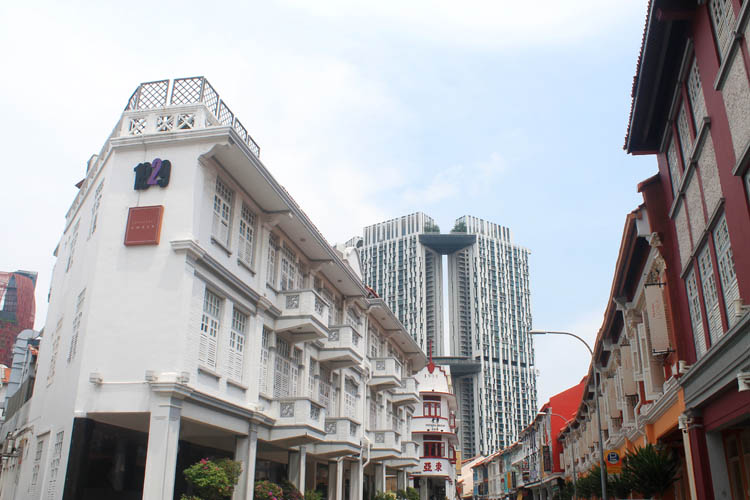 Hotel 1929, located in one of Singapore's old shophouses