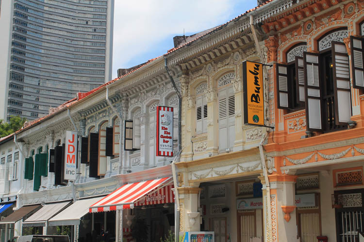 Shophouses on Kandahar Street, Kampong Glam, Singapore