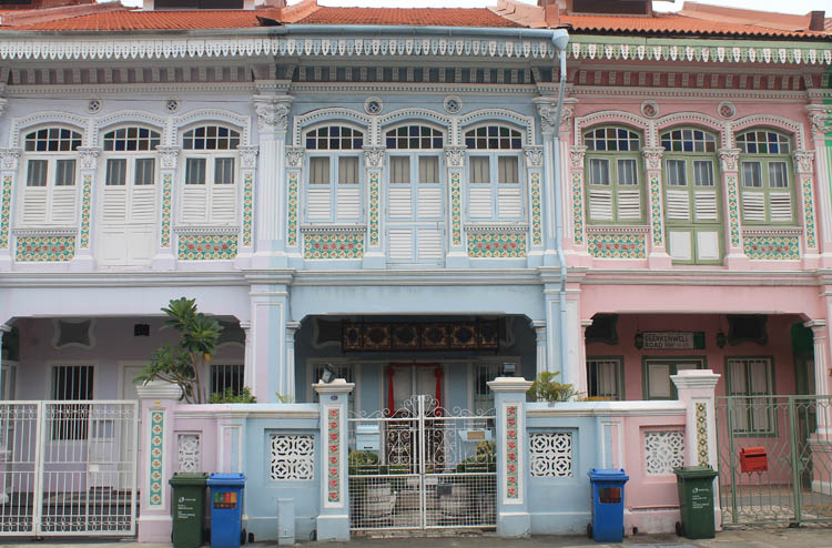 Shophouses on Koon Seng Road, Joo Chiat, Singapore