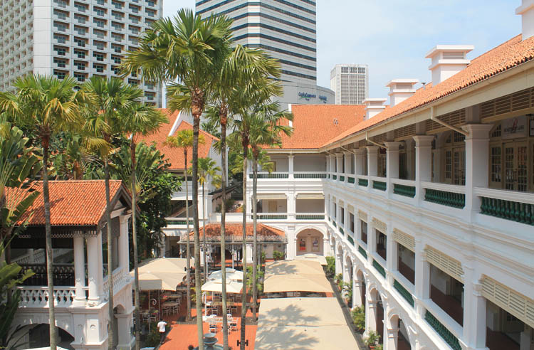 Downtown Singapore -- Raffles Hotel