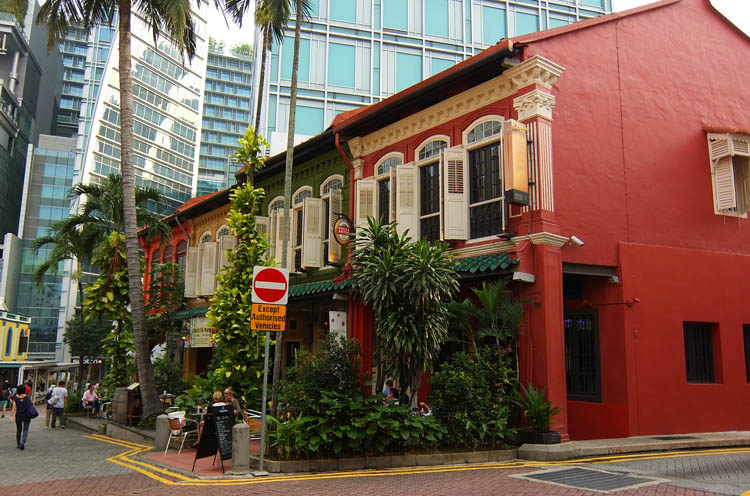 Shophouses on Emerald Hill Road, Singapore