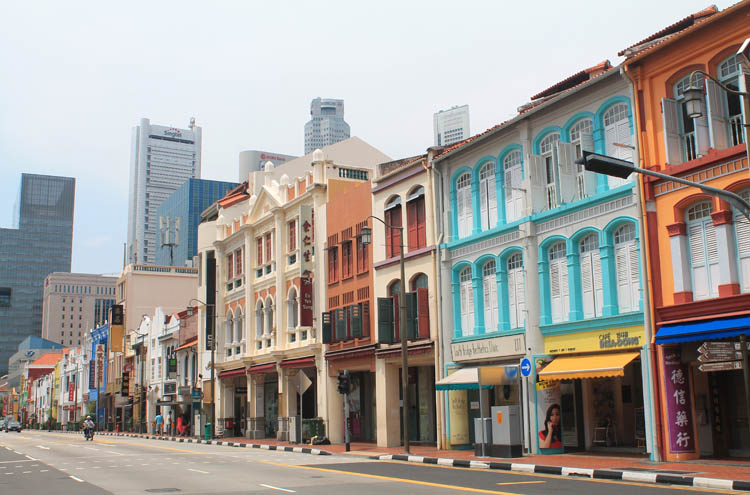 Shophouses on South Bridge Road, Chinatown, Singapore