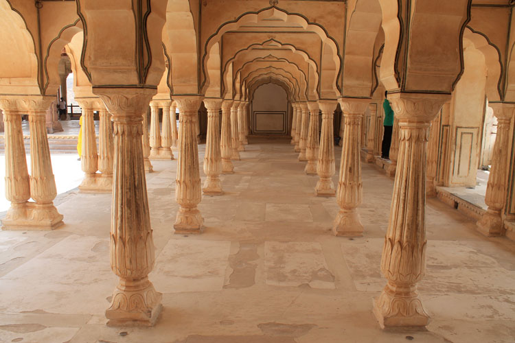 Touring the Forts and Palaces in Jaipur, Rajasthan, India -- Amber Palace