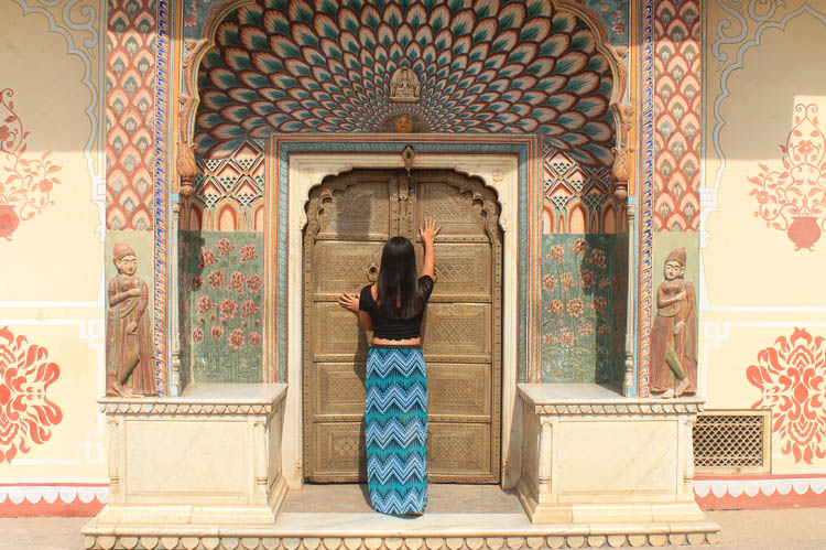 Touring the Forts and Palaces in Jaipur, India -- City Palace Door