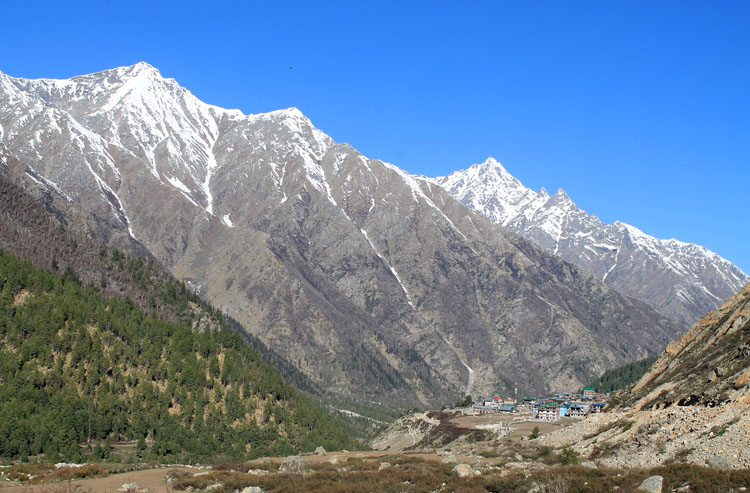 Looking back towards Chitkul