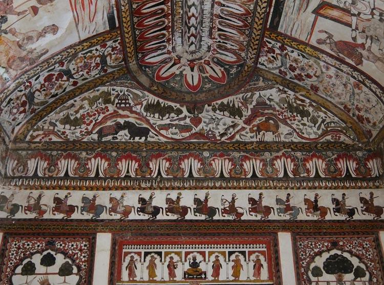 raj-mahal-orchha-paintings