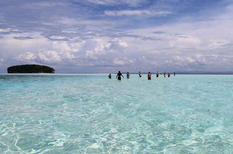 Walking to Pasir Timbul, Raja Ampat, Indonesia