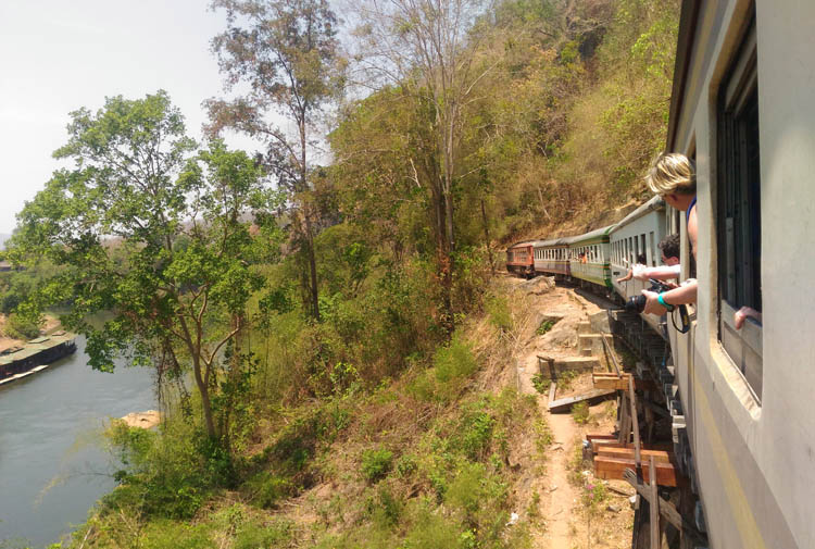 Two Weeks in Thailand: Taking the train in Kanchanaburi