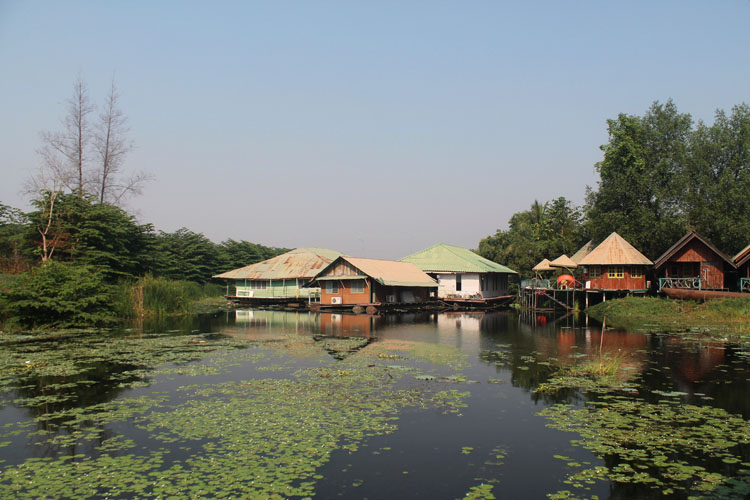 Things to do in Kanchanaburi, Thailand -- Floating guesthouses