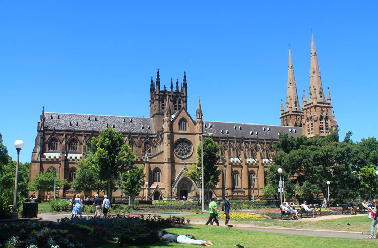 A day in Sydney, Australia -- St Mary's Cathedral
