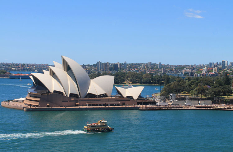 A day in Sydney, Australia -- view from the Harbour Bridge