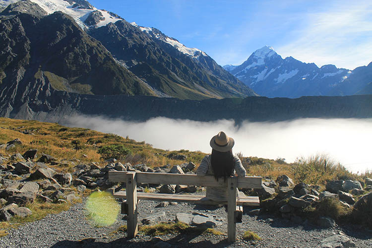 Hiking Mount Cook National Park, New Zealand