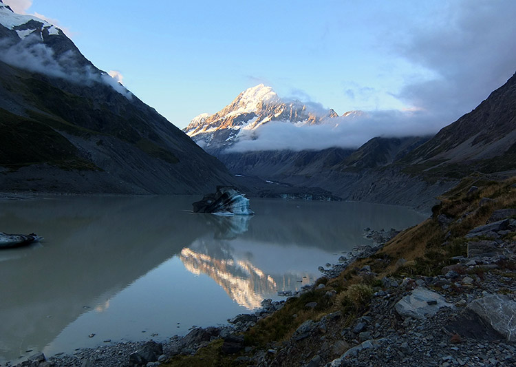 The Hooker Valley hike, Mount Cook National Park, New Zealand