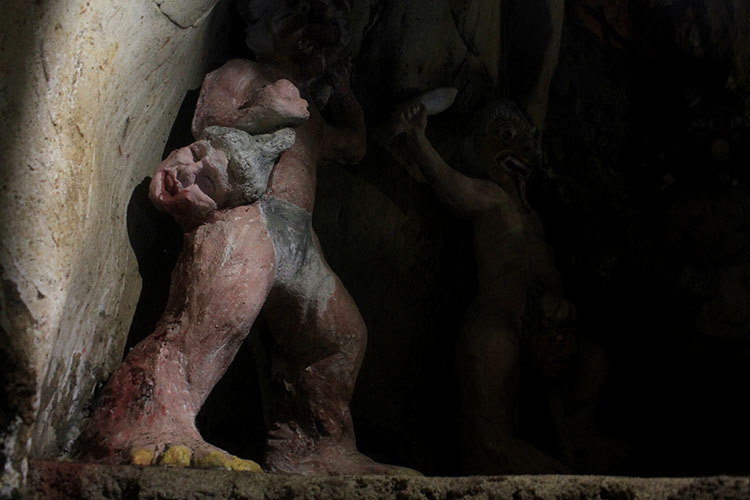 A creepy statue at the Marble Mountains, Vietnam