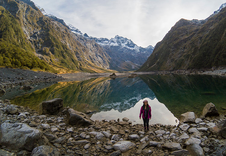 Lake Marian, an excellent hike near Milford Sound, Fiordland, New Zealand