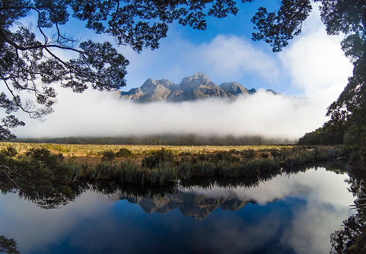 Two week New Zealand itinerary: The Mirror Lakes, Milford Sound