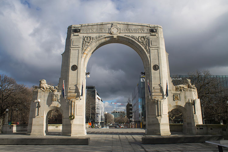 Things to do in Christchurch, New Zealand -- Bridge of Remembrance