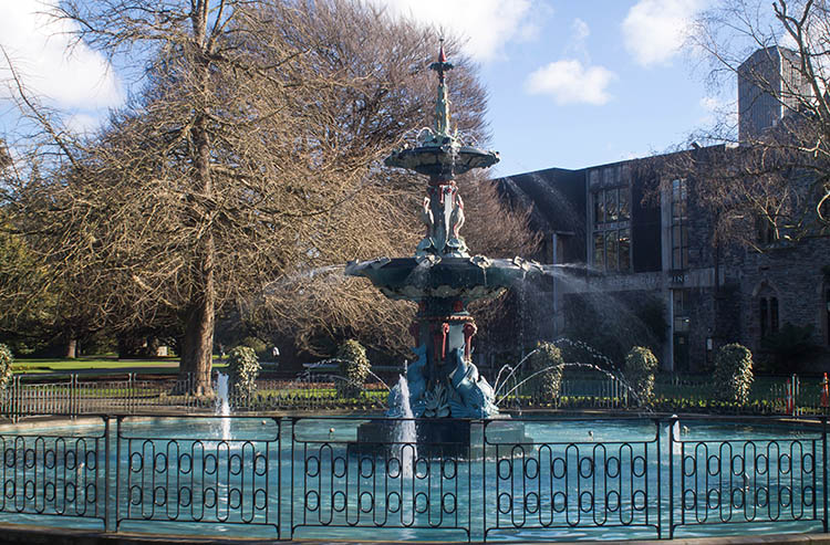 Things to do in Christchurch, New Zealand -- fountain at Canterbury Museum