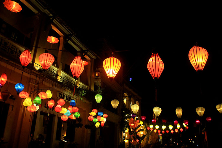Two weeks in Vietnam: Hoi An lanterns at night,