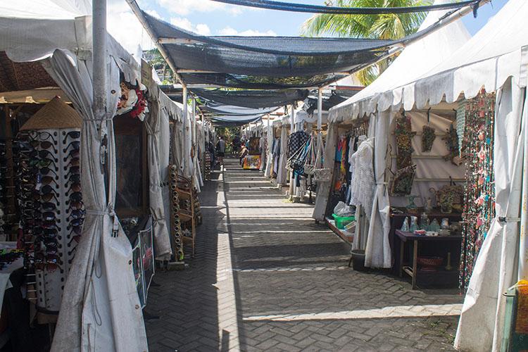 Shopping at a market in Seminyak, Bali