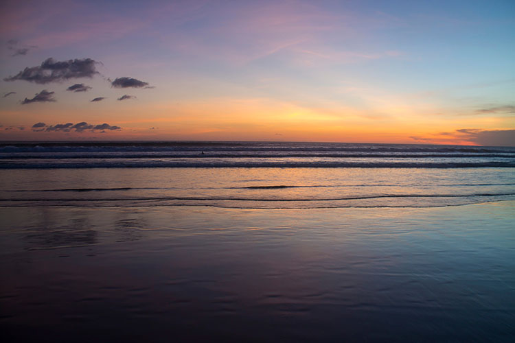 Things to do in Seminyak, Bali -- watching the sunset at the beach