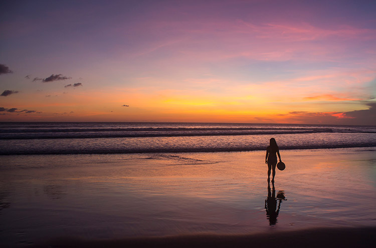 Things to do in Seminyak, Bali -- sunset on the beach
