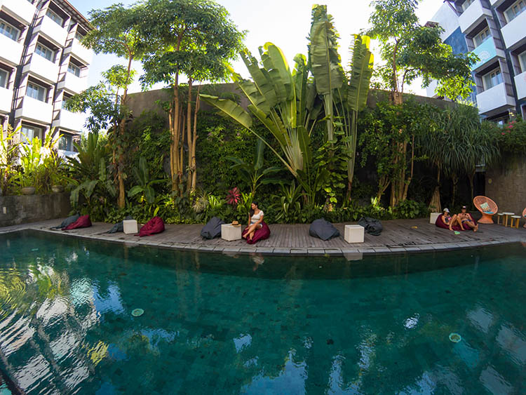 Things to do in Seminyak, Bali -- Chilling by the hotel pool