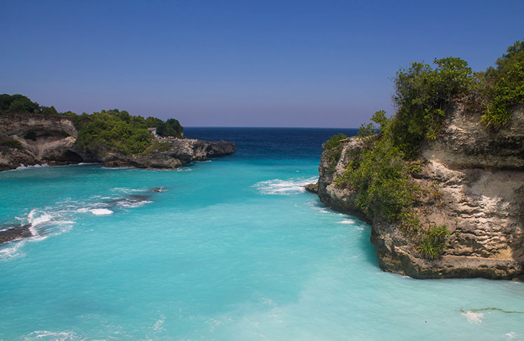 The Blue Lagoon, Nusa Ceningan, an easy walk from Nusa Lembongan