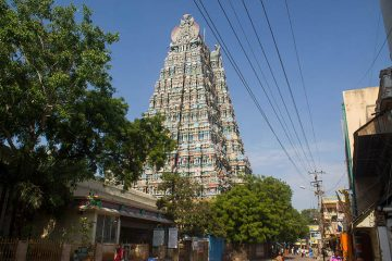 Meenakshi Temple tower, Madurai, India