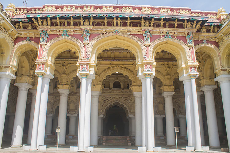 Stunning detail at Thirumalai Palace, one of the best places to see in Madurai, India