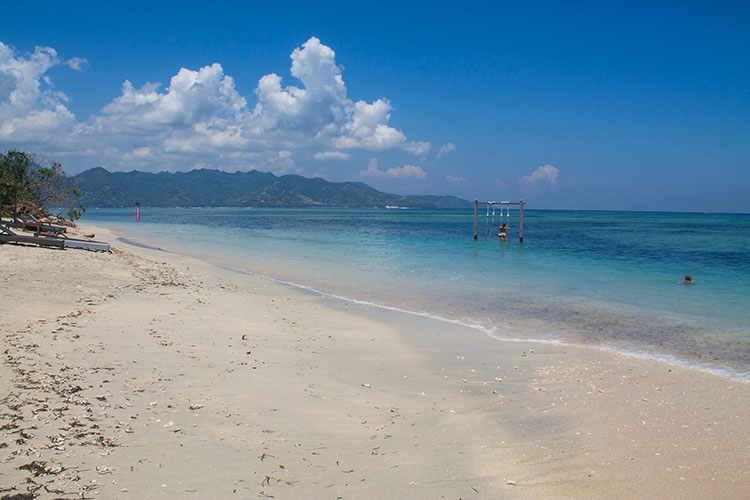 Awesome beaches on Gili Air -- the north west coast