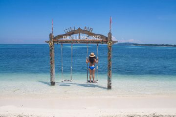 Where are the best beaches on Gili Air, Indonesia?