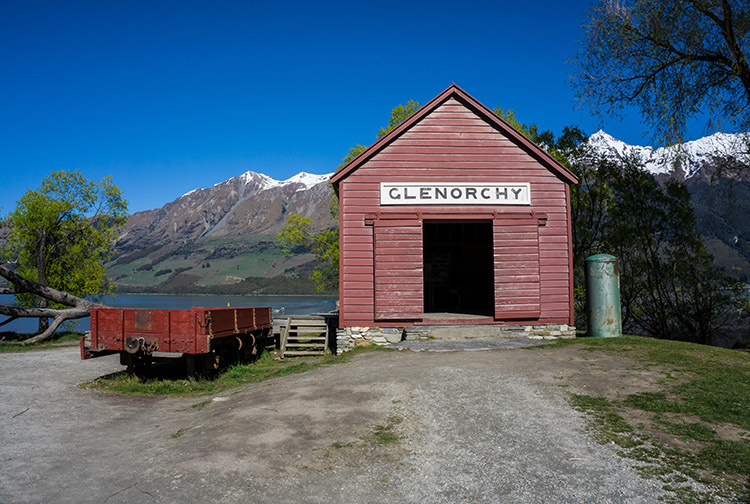 The Glenorchy boat shed, New Zealand