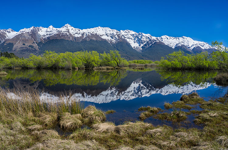 Snow-capped mountains in Glenorchy, New Zealand