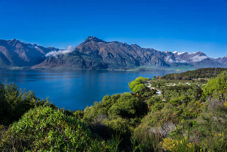 Scenic roads near Queenstown -- the road to Glenorchy