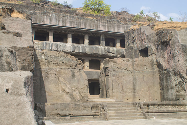 The day trip to Ellora Caves from Aurangabad, India -- an large cave temple