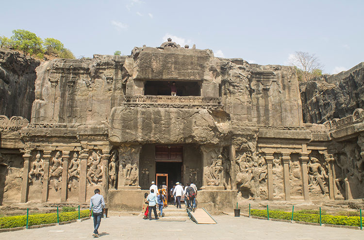 The day trip to Ellora Caves from Aurangabad, India -- Kailasa Temple
