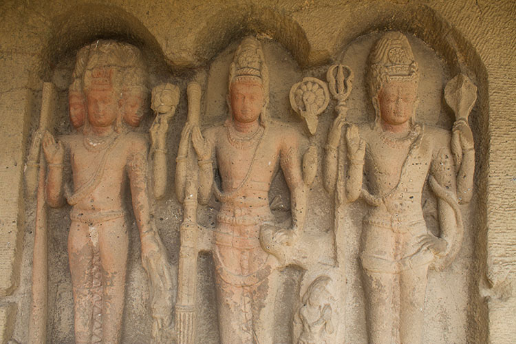The day trip to Ellora Caves from Aurangabad, India -- cave carvings