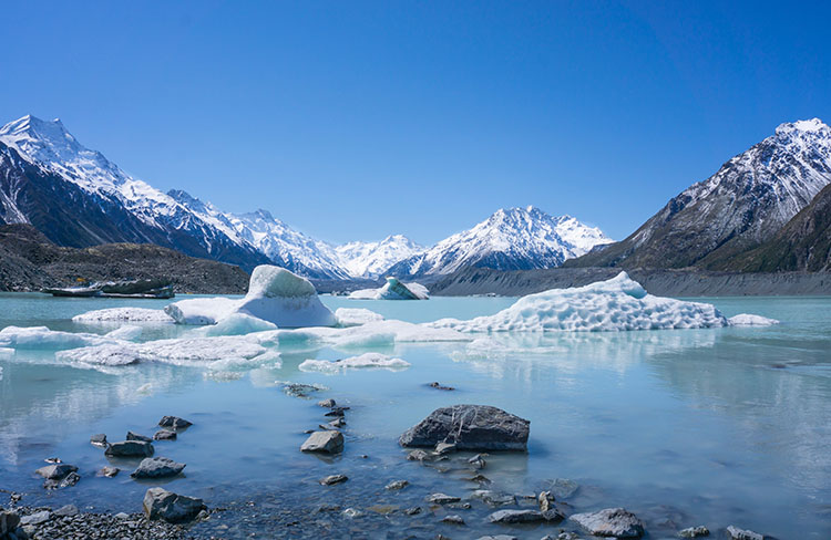 Two week New Zealand itinerary: Tasman Glacier