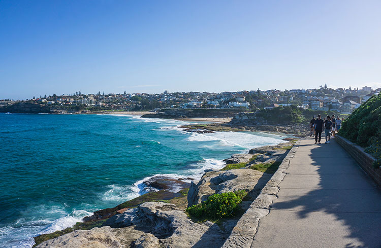 The Bondi to Coogee walk, Sydney, Australia