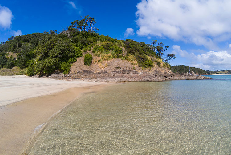 Clear water at Matapouri Bay, Tutukaka Coast, Northland, New Zealand