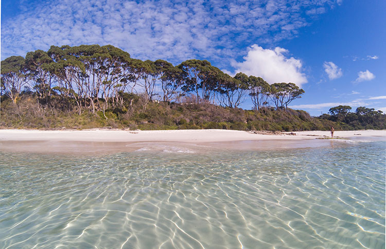 Chinamans Beach, the start of the White Sands Walk, Jervis Bay, Australia