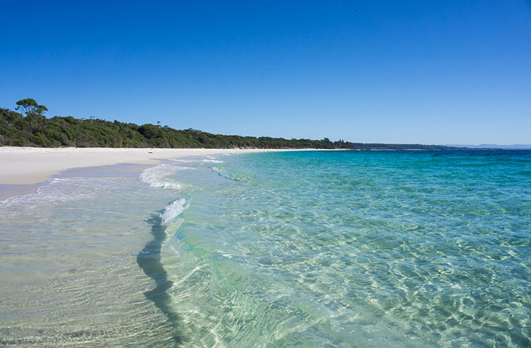 Iluka Beach, one of the best beaches in Jervis Bay, Australia