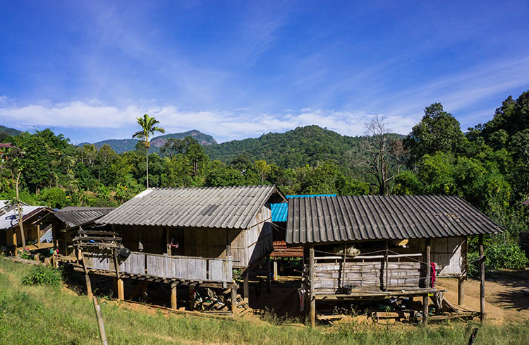 A Doi Inthanon hill tribe village, Thailand