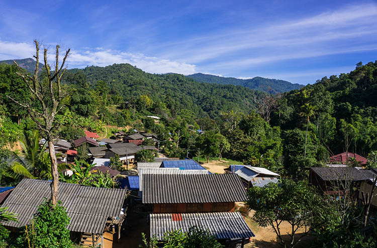 A Karen village on Doi Inthanon, Thailand