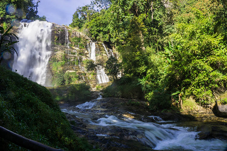 Wachirathan Waterfall, on the day trip to Doi Inthanon from Chiang Mai, Thailand