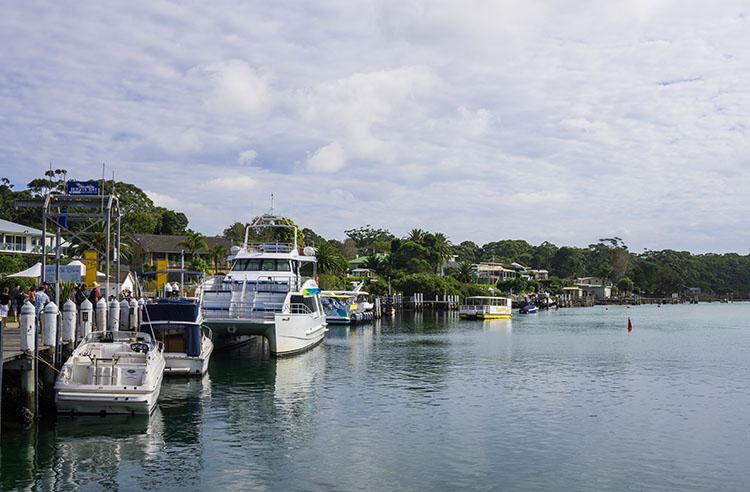 Huskisson town, Jervis Bay, Australia